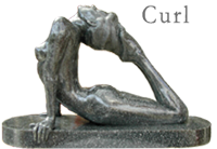 Curl Figurative Nude Sculpture